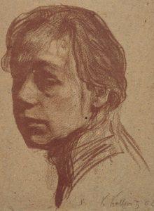 Selbstbildnis nach links mit Halsansatz, 1902, Lithografie