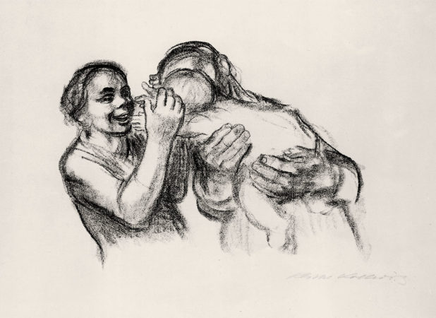 Eltern mit Kind, 1931, Lithographie